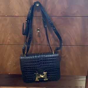 Handbags - Black alligator FAKE Hermès bag